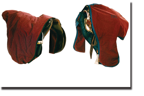Burgandy & Navy English and Western Saddle Bags